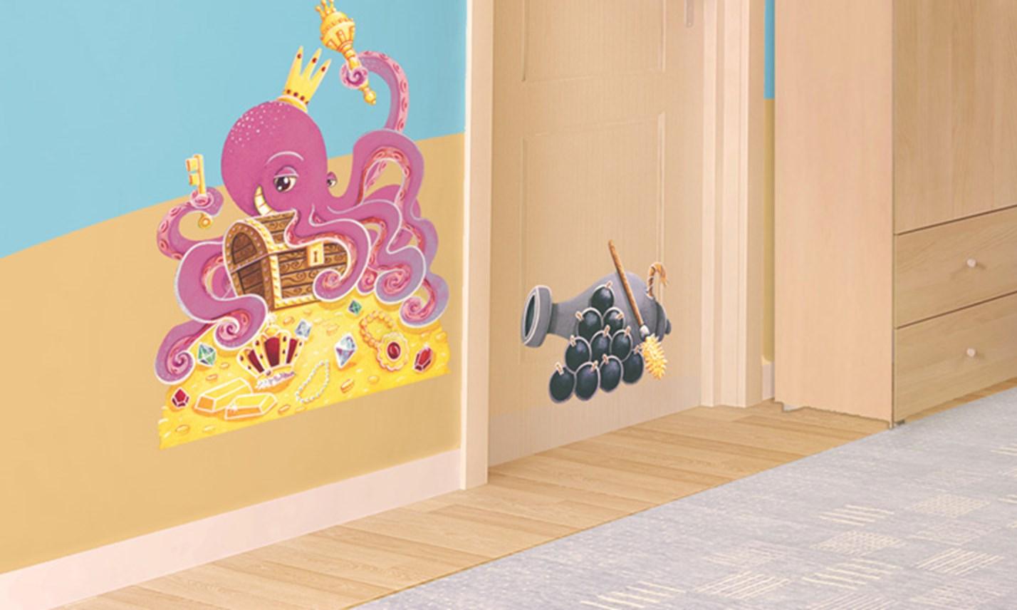 Stickers murali bambini cameretta all 39 arrembaggio - Stickers per pareti cameretta bambini ...
